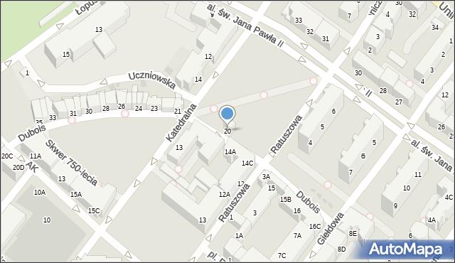 Kołobrzeg, Dubois Stanisława, 20, mapa Kołobrzegu