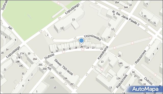 Kołobrzeg, Dubois Stanisława, 26, mapa Kołobrzegu