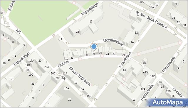 Kołobrzeg, Dubois Stanisława, 28, mapa Kołobrzegu