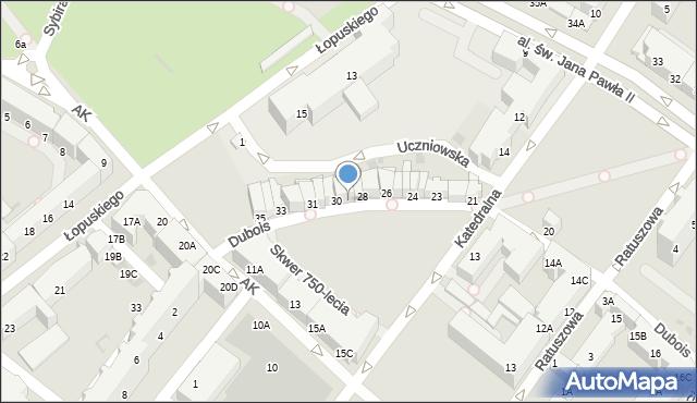 Kołobrzeg, Dubois Stanisława, 29, mapa Kołobrzegu