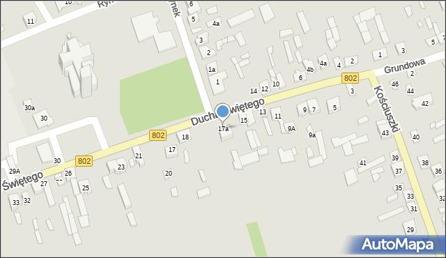 Latowicz, Ducha Świętego, 17a, mapa Latowicz
