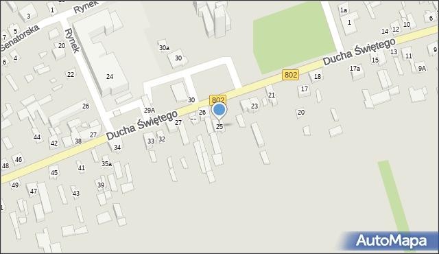 Latowicz, Ducha Świętego, 25, mapa Latowicz