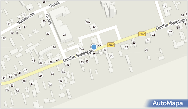 Latowicz, Ducha Świętego, 27, mapa Latowicz