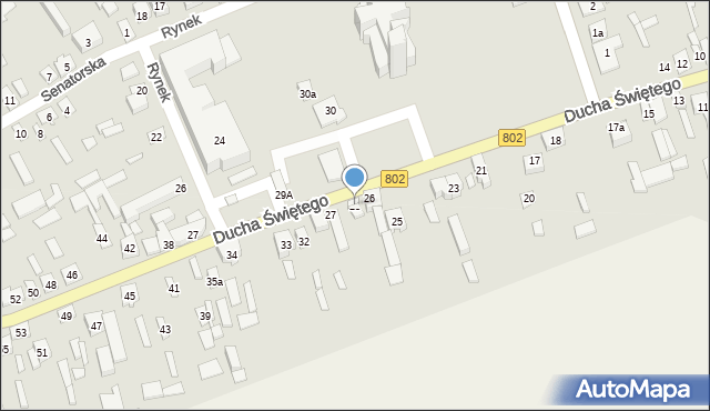 Latowicz, Ducha Świętego, 28, mapa Latowicz