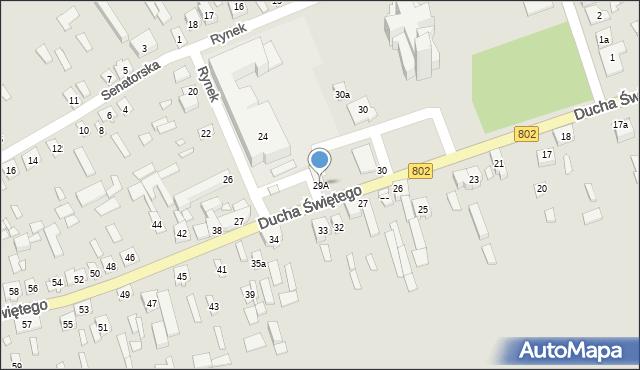 Latowicz, Ducha Świętego, 29A, mapa Latowicz