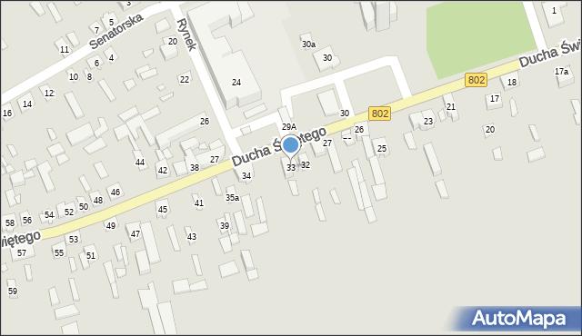 Latowicz, Ducha Świętego, 33, mapa Latowicz