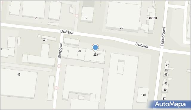 Łódź, Duńska, 22a, mapa Łodzi