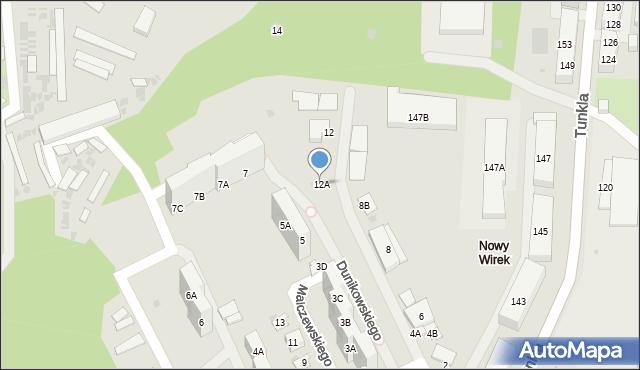 Ruda Śląska, Dunikowskiego Ksawerego, 12A, mapa Rudy Śląskiej