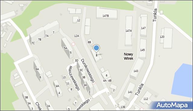 Ruda Śląska, Dunikowskiego Ksawerego, 8, mapa Rudy Śląskiej