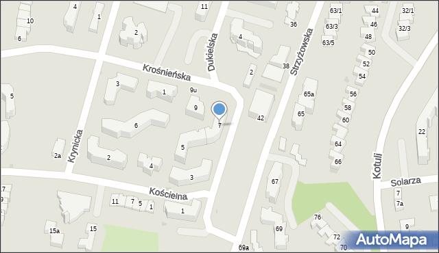 Rzeszów, Dukielska, 7, mapa Rzeszów