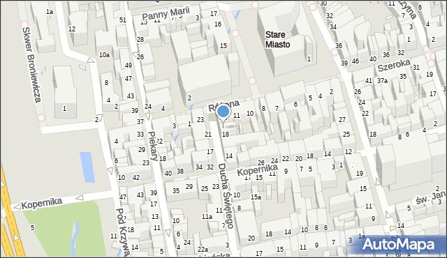 Toruń, Ducha Świętego, 20, mapa Torunia