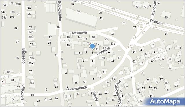 Toruń, Dudojcia Ignacego, 9, mapa Torunia
