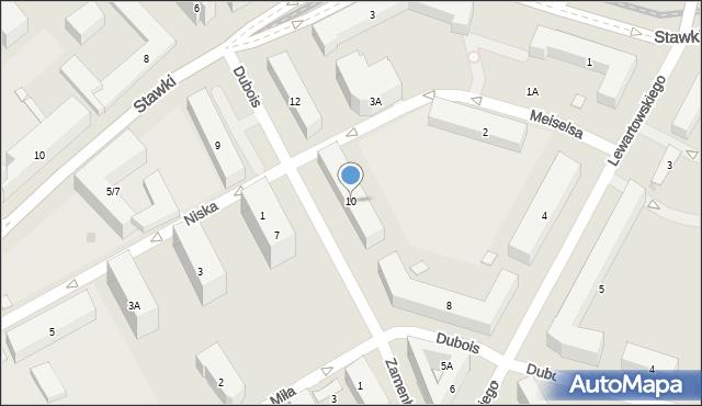 Warszawa, Dubois Stanisława, 10, mapa Warszawy