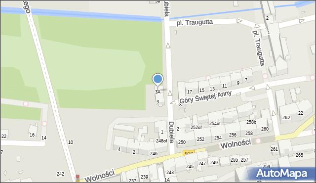 Zabrze, Dubiela Pawła, 3A, mapa Zabrza
