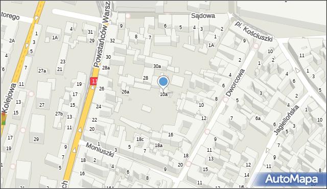 Bytom, Dworcowa, 10a, mapa Bytomia