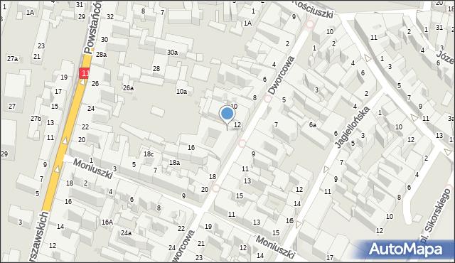 Bytom, Dworcowa, 14, mapa Bytomia
