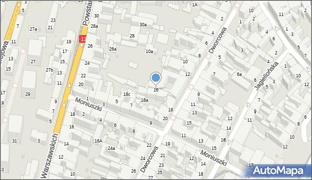 Bytom, Dworcowa, 16, mapa Bytomia