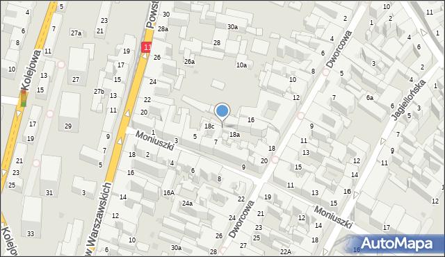 Bytom, Dworcowa, 18b, mapa Bytomia