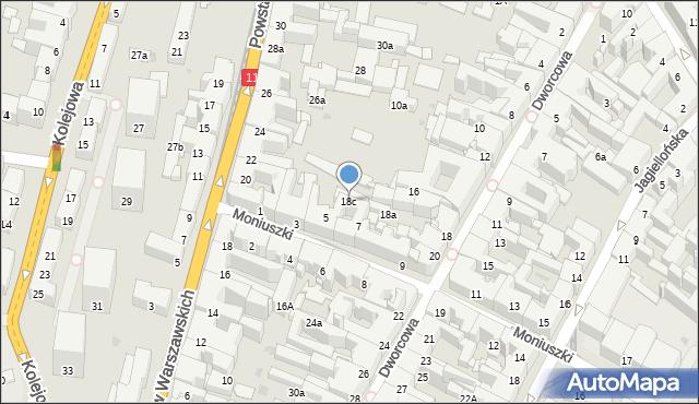 Bytom, Dworcowa, 18c, mapa Bytomia