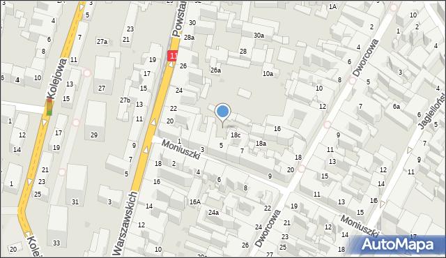 Bytom, Dworcowa, 18d, mapa Bytomia