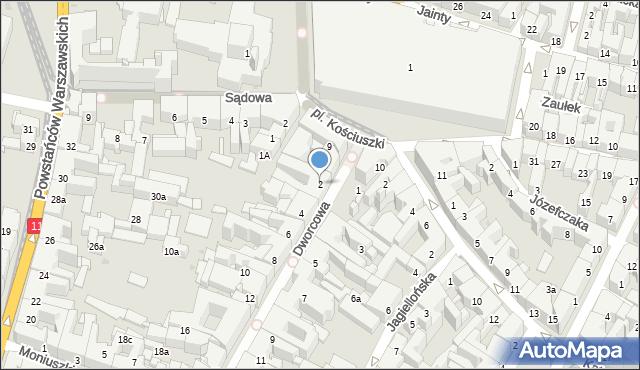Bytom, Dworcowa, 2, mapa Bytomia