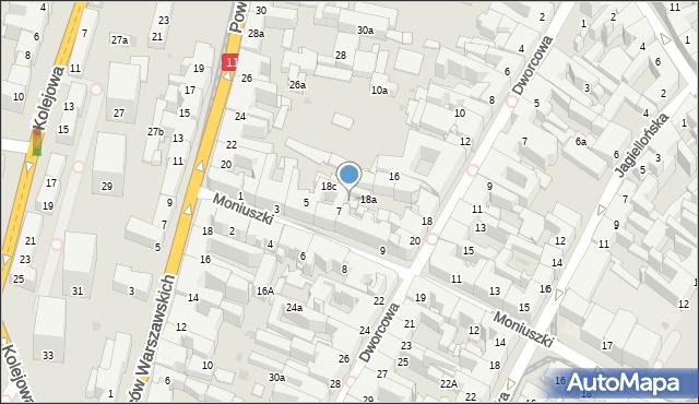 Bytom, Dworcowa, 20A, mapa Bytomia