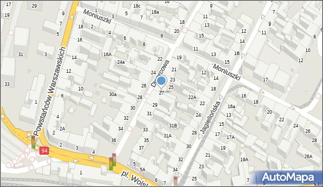 Bytom, Dworcowa, 27, mapa Bytomia