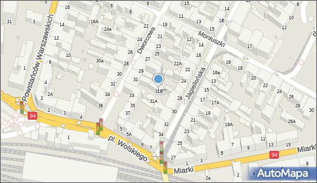 Bytom, Dworcowa, 31B, mapa Bytomia