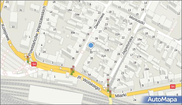 Bytom, Dworcowa, 33, mapa Bytomia