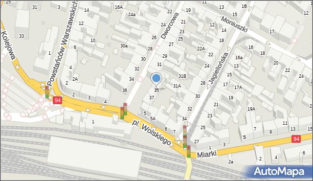 Bytom, Dworcowa, 35, mapa Bytomia