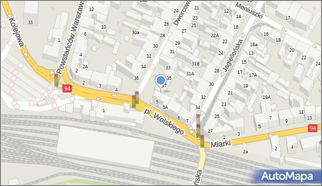 Bytom, Dworcowa, 39, mapa Bytomia
