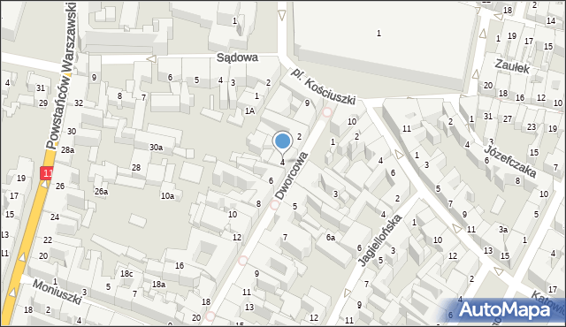 Bytom, Dworcowa, 4, mapa Bytomia