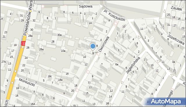 Bytom, Dworcowa, 8, mapa Bytomia