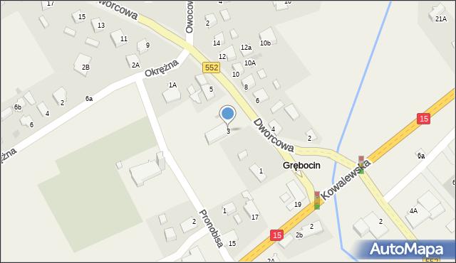 Grębocin, Dworcowa, 3, mapa Grębocin