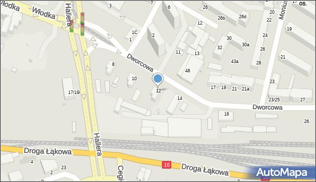 Grudziądz, Dworcowa, 12, mapa Grudziądza