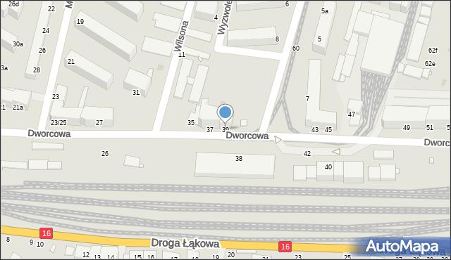 Grudziądz, Dworcowa, 39, mapa Grudziądza