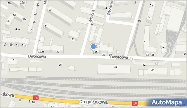 Grudziądz, Dworcowa, 44, mapa Grudziądza