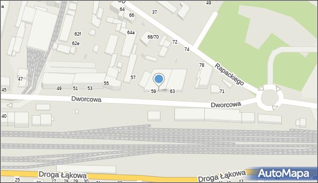 Grudziądz, Dworcowa, 61, mapa Grudziądza