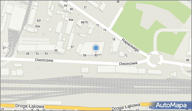 Grudziądz, Dworcowa, 63, mapa Grudziądza
