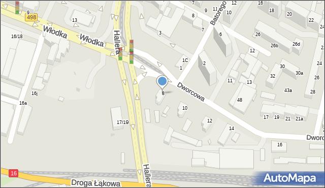 Grudziądz, Dworcowa, 8, mapa Grudziądza