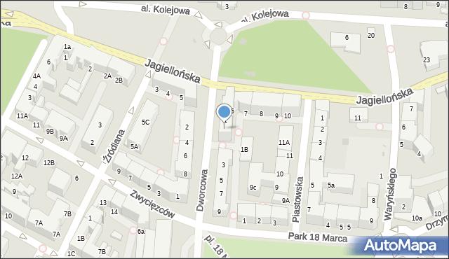 Kołobrzeg, Dworcowa, 1A, mapa Kołobrzegu