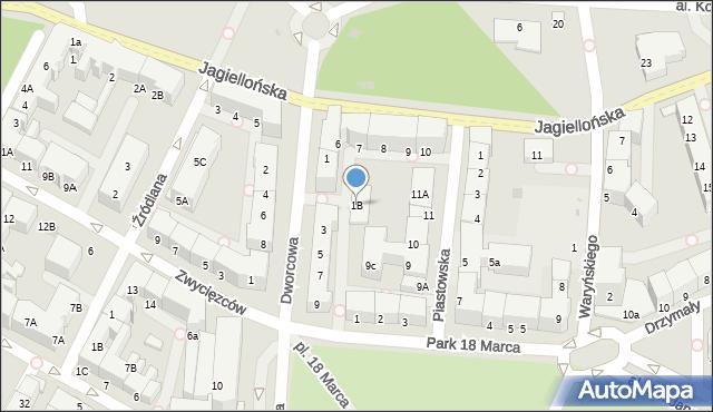Kołobrzeg, Dworcowa, 1B, mapa Kołobrzegu