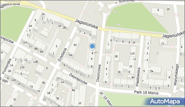 Kołobrzeg, Dworcowa, 4, mapa Kołobrzegu
