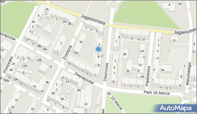 Kołobrzeg, Dworcowa, 6, mapa Kołobrzegu