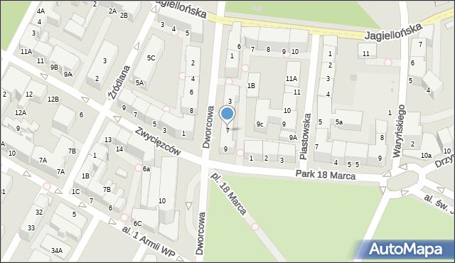 Kołobrzeg, Dworcowa, 7, mapa Kołobrzegu