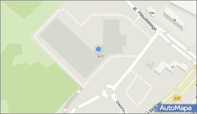 Lublin, Dworcowa, 11, mapa Lublina