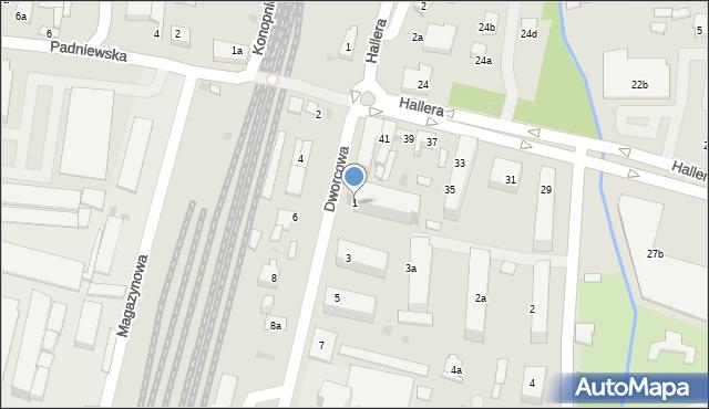 Mogilno, Dworcowa, 1, mapa Mogilno