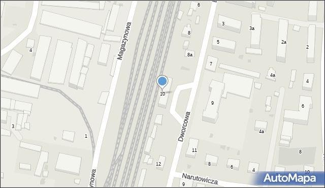 Mogilno, Dworcowa, 10, mapa Mogilno