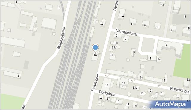 Mogilno, Dworcowa, 14, mapa Mogilno