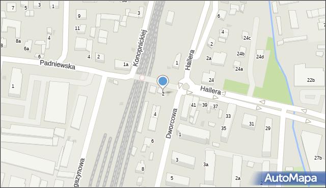Mogilno, Dworcowa, 2, mapa Mogilno